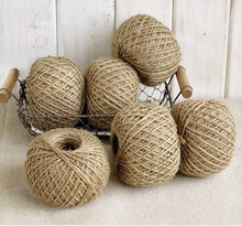 Portbable 30 Meter Natural Sisal 2mm Rustic Tags Wrap Wedding Decoration Crafts Twisted Rope String Cord Events Party Supplies