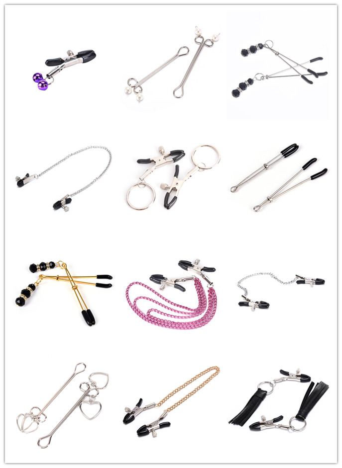 Breast Clip For Women Milk Clip Nipple Clamps With Metal Chain Couples Sex Bdsm Exotic Accessories Nipple Clamps multi styles