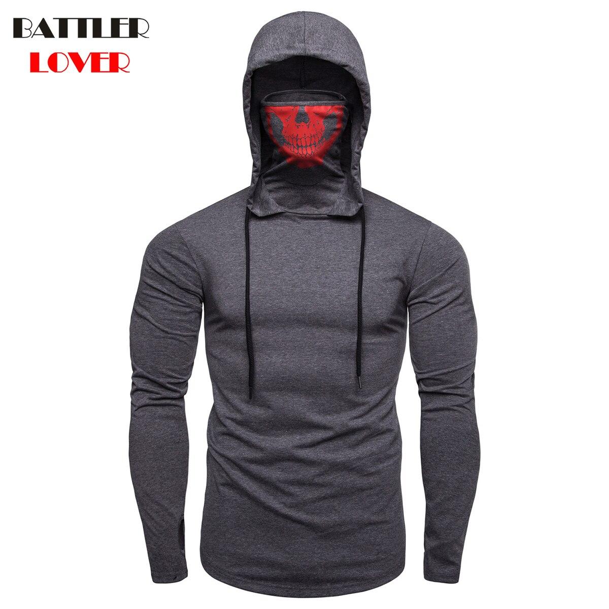 2018 Skull Pullovers Hoodies Men Autumn Hooded Hoodies Mens Sweatshirts Hip Hops Males Casual Brand Hombre Slim Hoody Sweatshirt