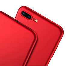 Red Soft Matte TPU Case for iPhone 7 6 6S Plus Back Cover Sillicone Cases for iPhone 6 S Ultra Thin Cover Phone Protective Cases
