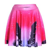 Hot New Pink Sky Women Sexy Pleated Skirts Tennis Bowling Bust Shorts Skirts Slim Starry Sky  Fitness Sports Apparel A Style