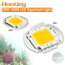 High power LED chip Aquarium lamp 380Nm-840Nm 20W 30W 50W 100W Full Spectrum White Aquatic Plant Grow Blub Sea Grass Water Coral