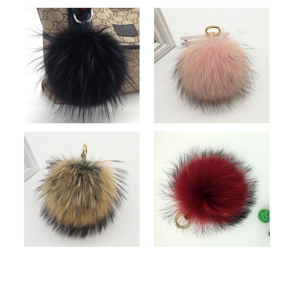 raccoon fur pompoms colors
