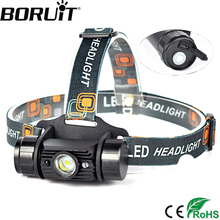 Boruit 3W Mini IR Sensor Headlight Induction USB Rechargeable Lantern Headlamp 1000 Lumen 1 Mode Camping Flashlight Head Torch