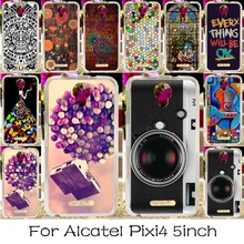 Soft TPU Silicone  Phone Case For Alcatel OneTouch Pixi 4 5.0'' OT-5010 5010D 3G Version Cover Colorful Life Shell Housing