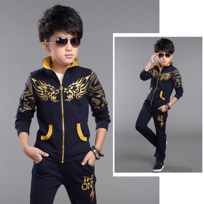 2017 new spring boy cartoon costumes children aged between 4 -15 years leisure fashion sports suit two-piece<br><br>Aliexpress