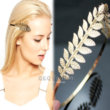 Side Open Leaf Branch Dainty Toga Back Hair Crown Head Dress Alice Band Bridal Jewelry 2017 New