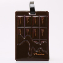 New Fashion Chocolate PVC Leather Travel Luggage Baggage Tags Travel Accessories 11*7.5cm(China)