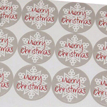 75pcs/lot Round 3.5CM stickers Merry Christmas Gift Packing kraft paper label, For baking package box / bags / cup seal label