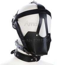 Buy Adult Game Genuine Leather Head Harness Mouth Mask Ball Mouth Gag Fetish Salve BDSM Bondage Restraint Sex Toys Couples