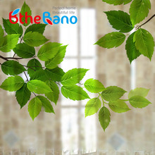 60x58cm leaf Stained Self adhesive Window film Sticker Opaque Privacy Decorative Glass Film Window Film adesivo de parede(China)