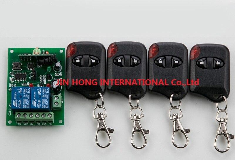 2016 new Hot Sales DC 12V 10A 2CH 315MHz/433MHZ Wireless RF Remote Control Switch teleswitch 4* cat eye Transmitter+ 1*Receiver<br><br>Aliexpress