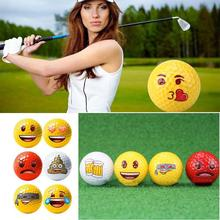 Emotional Facial Pattern Small Happy Practice Sports Tool Equipment Golf Ball(China)