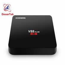 10pcs/lot V88 Plus Android TV BOX Rockchip 3229 Quad Core Android 6.0 2G/8G 2.4G WiFi BT4.0 4K* 2K Full HD Media Player pk X96