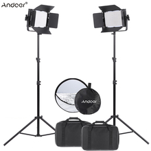 Andoer 1040pcs Beads LED Video Light Lamp CRI 95+ 7680LM 5600K DMX512 Studio Photographic Lighting with Light Stand Reflector(China)