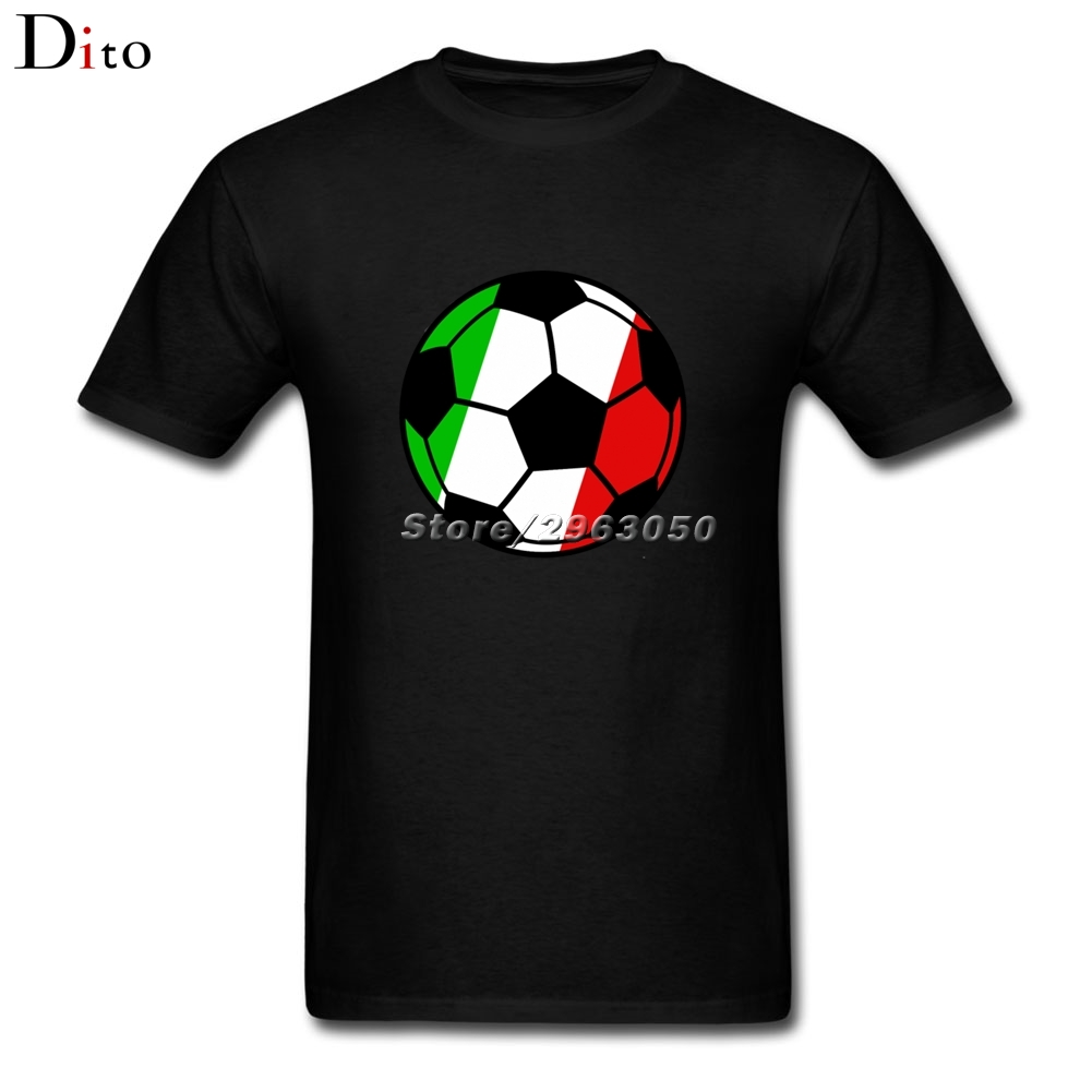 Italy Italian Flag Footballing Tee Shirt Men's Funny Custom Short Sleeve Valentine's XXXL Men's Tshirt(China)