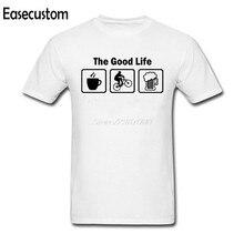 Easecustom The Good Life T Shirt Custom Short Sleeve T-shirts For Men  Fashion O-neck Cotton 3XL Mountain Biking T Shirts e298e942fe34