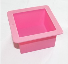 Large Square Soap Candle Cake Jelly Candy Silicone Mold Mould(China)