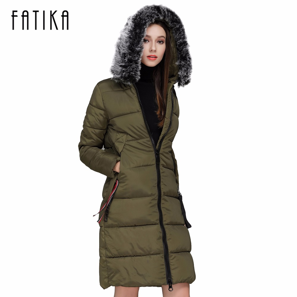FATIKA 2017 Winter Jacket Women Cotton Jacket Plus Size 3XL Winter Coat Women Thicken Warm Parka Female Hooded OutwearÎäåæäà è àêñåññóàðû<br><br>