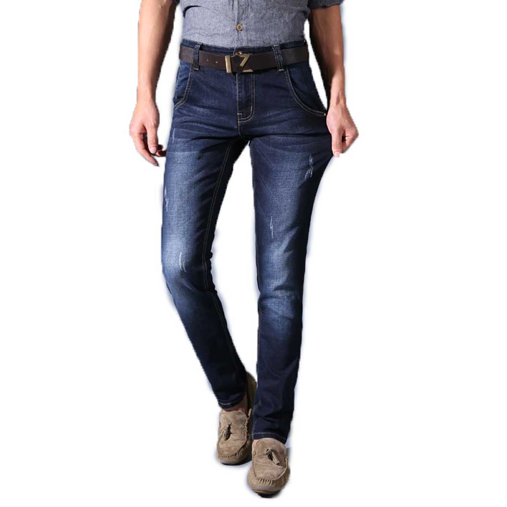 Fashion Winter Mens Slim Fit Jeans Dark Blue High Quality Stretch Casual Denim Pants Long Trousers Special Offer PriceОдежда и ак�е��уары<br><br><br>Aliexpress