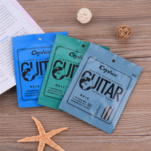 Guitar Part Electric Guitar Strings 6pcs Full Set Replacement Feel Moderate Hexagonal Carbon Steel Phosphor Bronze Durablel