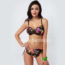 2016 New Plus Size Bikini Set Push Up Padded Swimsuit Sexy Women Bathing Suit Cup with Wire Biquini