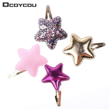 10 PCS Style Baby Tie Bow Love Heart BB Hairpins Children Accessories Girls Headwear Color Princess Star Cute Barrette Hair Clip(China)