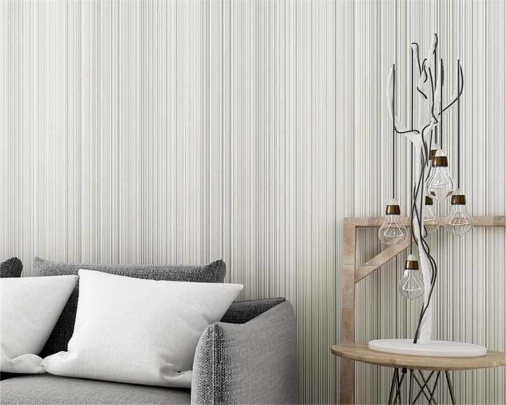 Beibehang Modern simple pure color plain vertical striped fabric wallpaper bedroom living room hotel fine line 3d wallpaper roll<br>
