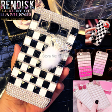 Lips Fox Square Diamond Rhinestone case Jewelled Bling cover For Samsung Galaxy J2 2015 J200 Crystal cases
