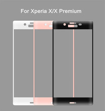 Newest High Quality 3D Curved Full Cover Tempered Glass for Sony Xperia X/X Premium/X Compact 9H Glass Screen Protector Film