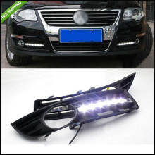 Car High Quality LED Headlights Car Daytime Running Light DRL Fog Lamp Cover For  2006 2007 2008 2009 2010 Volkswagen VW Magotan