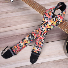 Hot 10 Types Colorful Belt Guitar Straps Personalized Printing Guitar Bass Electric Guitar High Quality Strap(China)