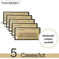 Nagaraku 5 лотков 2D 3D 4D 5D 6D связка ресниц для макияжа ресницы предварительно завитые эффект объема ресниц для наращивания ресниц