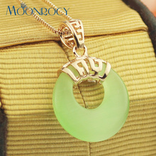 MOONROCY New  Zirconia Free Shipping Jewelry wholesale rose gold Color Choker Green Opal Crystal Necklace for women Gift