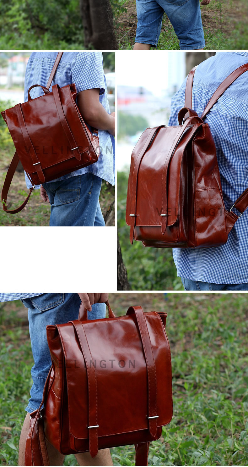 oil wax cow leather men backpack (4)