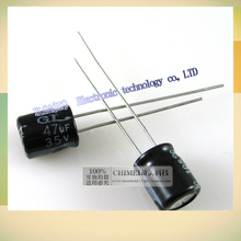 New original 35 v 47 uf electrolytic capacitor 3 c digital electronic components partsFree shipping 5*11(China)