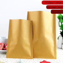 7cm*10cm Small Heat Seal Kraft Paper Bag Vacuum Cereals/Spice/Tea/Coffee Beans Bag(China)