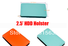 "Leather External 2.5"" HDD Protective Portable Sleeve Case  HDD Case Bag"
