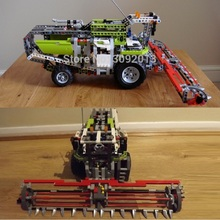 LEPING 20041 1107Pcs Technic Series The Combine Harvester happy farm 8274 Educational Building Blocks Bricks Toys boy Gift(China)