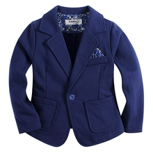 new arrival knitted cotton 100%  toddler BOY blazer BB161103A solid blue