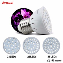 E27 LED Grow Lights Full Spectrum SMD 5730 LED Diode Grow Bulb 21 28 35 LEDs fitolampy For Plant Indoor DIY Hydroponics Flowers