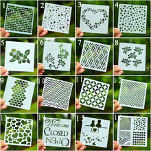 DIY Craft Layering Flower Brick Stencils For Walls Painting Scrapbooking Stamping Embossing Album Decorative Paper Cards(China)