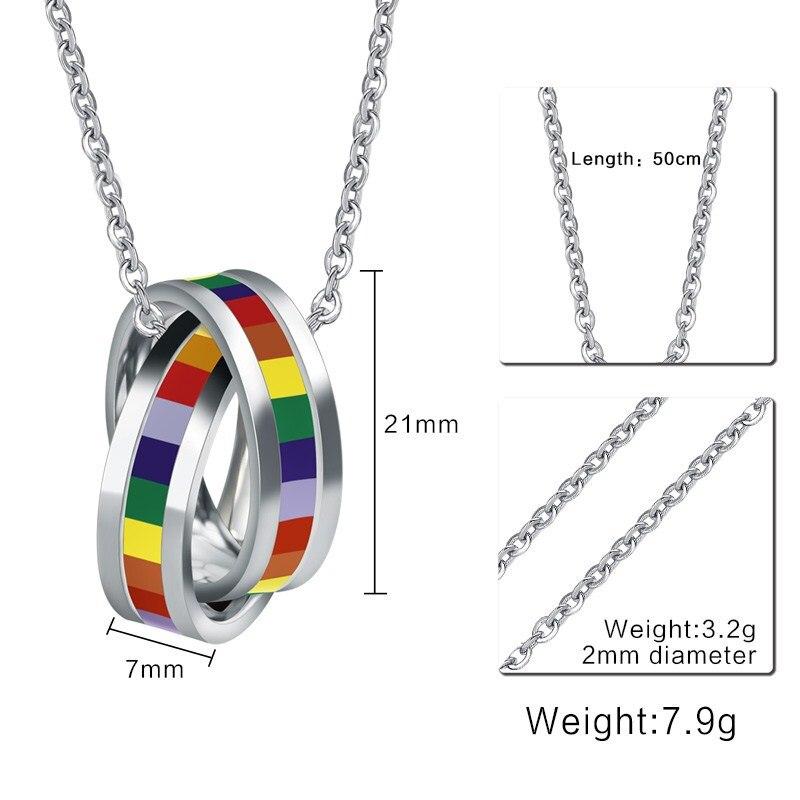 Lesbian Gay Pride Pendants | Multi-Color Circles
