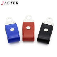 JASTER fashion leather usb flash drive fur key chains pendriver 8gb 16gb 32gb commercial memory stick 4gb 64gb gift gifts