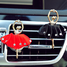 Car Air Vent Perfume Diamond Ballet Girl Solid Fragrance Car Styling Funny 4 Colors Auto Outlet Air Freshener Ornament for Girls(China)