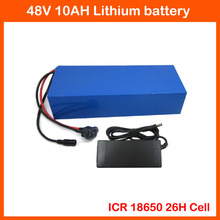 48V Electric Bike battery 48V 10AH Lithium battery 48V use for Samsung ICR 18650-26H Cell with 54.6V 2A Charger 15A BMS