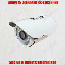 Waterproof IR Bullet Camera Casing Size 60 Tube CCTV Camera Case Aluminum Alloy IP66 Outdoor Housing for 36pcs IR LED Board