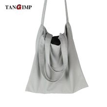 TANGIMP Solid Canvas Cotton Totes Handbags Light Gray for DIY Women Messenger Bags Shoulder Bags Handmade Painting Hen Weekend