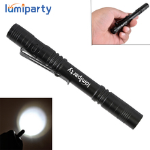Lumiparty 120LM 1 Switch Mode Mini LED Flashlight Portable Daily Life Waterproof Pocket Torch Light Used 2xAAA For Cycling