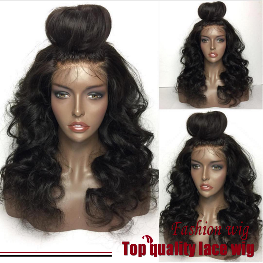 180% Density Natural BodyWave Wig With Baby Hair Black Heat Resistant Hair Wig Synthetic Lace Front Wig Perruque Women Pelucas<br><br>Aliexpress